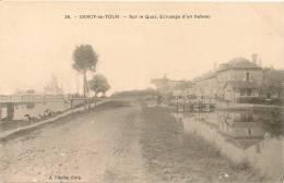 Cpa58 Cercy La Tour éclusage D´un Bateau - France