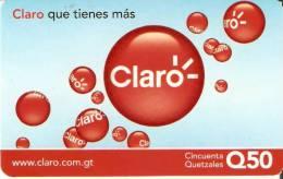 TARJETA DE GUATEMALA DE CLARO DE 50 QUETZALES - Guatemala