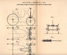 Original Patentschrift - Otto Ritter In Debschwitz B. Gera , 1894 , Lenkung Für Wagen , Kutschen , Automobile !!! - KFZ
