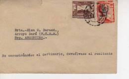 PERU  AÑO 1945   SOBRE  CARTA CIRCULADA   OHL - Peru
