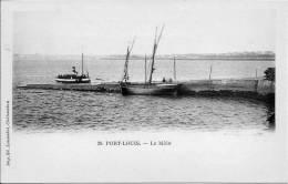56 PORT LOUIS  LE MÔLE   BATEAU VAPEUR ET BATEAU PÊCHE - Port Louis