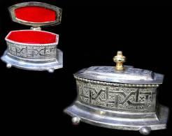 Boîte à Bijouxcoffret  Orientaliste En Métal / Oriental Jewellery Coffer Box - Art Oriental