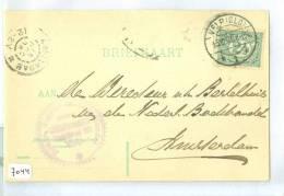 HANDGESCHREVEN BRIEFKAART Uit 1886 * NVPH 55 * Van VELP Naar AMSTERDAM (7044) - Periode 1891-1948 (Wilhelmina)