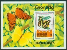 Grenada-Grenadinen  1975  Schmetterlinge  (1 Bl. Gest. (used) Kpl. )  Mi: Bl. 10 (0,70 EUR) - Grenade (1974-...)