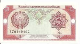 OUZBEKISTAN 3 SUM 1994 UNC P 74 - Ouzbékistan