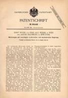 Original Patentschrift - E. Egger Und F. Wessel In Wien , 1893 , Elektrischer Motorwagen , Automobil , Eisenbahn  !!! - KFZ