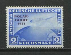 "Germany 1931 Mi 457 Unused Overprint ""Polar Fahrt 1931"" See Description CV 220 Euro - Germany"