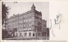 CPA  ETATS-UNIS -  SAINT-LOUIS  - Gem City Business Collége, Quincy, Ills - St Louis – Missouri