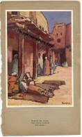- Belle Grande Image, Style Chromo, MARCHÉ  DE TOLGA, Prés De Biskra En Algérie, Par BARBEY,  TBE. - Vieux Papiers