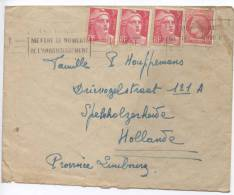 France Cover Sent To Netherlands 1946 - France