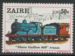 """Zaire 1980 Mi 626 YT 966 ** Locomotive No. 171 """"Slieve Gullion 440"""" (1913) - Ireland - Treinen"""