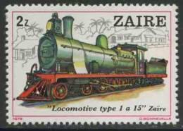 Zaire 1980 Mi 628 YT 968 ** Locomotive Type 1-15 - Zaire - Treinen