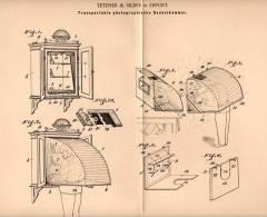 Original Patentschrift - Tetzner & Silber In Erfurt , 1901 , Dunkelkammer Für Photographie , Photografie , Fotografie !! - Historische Dokumente