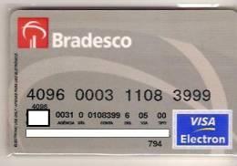CC024 BRAZILCARD BANCO BRADESCO CINZA 11 - Cartes De Crédit (expiration Min. 10 Ans)