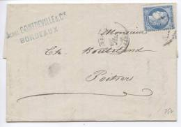 France Letter Bordeaux 7-7-1874 - 1871-1875 Ceres