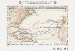 SMOM-1992 BF 35Columbus 500 Years Discovery Of America  Souvenir Sheet MNH - Malte (Ordre De)