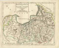 ALLEMAGNE ROYAUME DE PRUSSE ANCIENNE CARTE XVIII SIÈCLE-OLD MAP - Cartes Géographiques