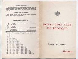 GOLF - ROYAL GOLF CLUB DE BELGIQUE MESSIEURS - CARTON  DE POINT ET REGLES LOCALES - A VOIR - Golf