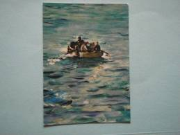 25662 PC: PAINTINGS: Edouard Manet, The Escape Henri Rochefort (detail) 1880. Private Collection. - Malerei & Gemälde
