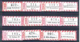 12 Verschiedene R-Zettel  Kohlscheid, Köln-Raderberg, Kornwestheim, Koblenz, Etc, Gemäss Scan, Los 30700 - R- & V- Vignette
