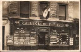Carte Photo Devanture Horlogerie J Leclerc 60 Rue Du Commerce Paris - Non Classés