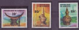DJIBOUTI N° 460/62** NEUF SANS CHARNIERE ART LOCAL SUJETS  DIVERS - Djibouti (1977-...)