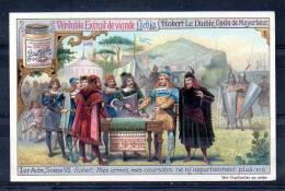 Chromo Liebig - Bouillon OXO - Robert Le Diable, Opéra De Meyerbeer - 1ème Acte Scène VII - Robert - Liebig