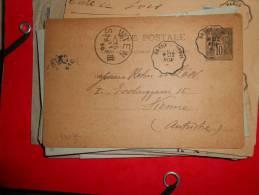 T8.carte    Convoyeur De DREUX A BREIL Pour L'Autriche.Voir Cachet!! - Postmark Collection (Covers)