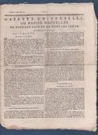 GAZETTE UNIVERSELLE OU PAPIER NOUVELLES 12 02 1792 - ALLEMAGNE - BRUXELLES - PETION - EMIGRES - GARDES DU ROI - - Journaux Anciens - Avant 1800