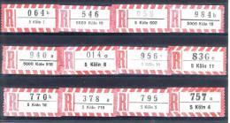 12 Verschiedene R-Zettel Köln, Gemäss Scan, Los 30752 - R- & V- Vignette