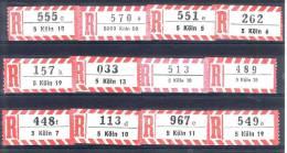 12 Verschiedene R-Zettel Köln, Gemäss Scan, Los 30753 - R- & V- Vignette