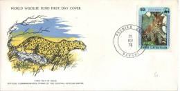 FDC Du Timbre YT N° 330 (léopard), Bangui, 21/2/1978 - Centrafricaine (République)