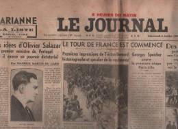 LE JOURNAL 04 07 1934 - SALAZAR PORTUGAL - CYCLISME PARIS LILLE - ULLMO - BOIS DE BOULOGNE - PAYS BAS - JANE AUBERT ... - Other