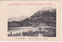 FRANCE Postcard Rare Carte Lettre - Lac D'Annecy  - Publicité Toni Kola & Bitter Secrestat & Vin Kola  (W3_913) - Publicidad