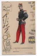 Régiment Section D´administration, Carte Illustrée, Mon Adresse Au Régiment, Cpa - Uniformi