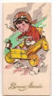 """Carte De Voeux/""""Bonne Année...""""/Jeune Conducteur/ Chariot/France /BERNAY/Eure/1931          CVE13 - Fiestas & Eventos"""