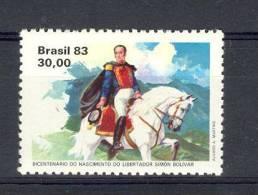 BRESIL 1983 YT 1611 ** SIMON BOLIVAR - Neufs