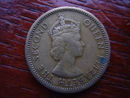 E.CARIBBEAN STATES - BR.EAST Caribbean Territories 1955 5 Cents Nickel-brass USED Coin. - East Caribbean States