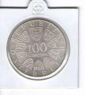 AUSTRIA ,ÖSTERREICH , 100 SCHILLING 1974 - XII. OLYMPIV GAMES INNSBRUCK 1976 , SILVER COIN - Austria