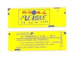 """CARNET 2376-C 8 Liberté De Delacroix """"FAITES DE LA MUSIQUE"""" Fermé En Paquet De 10. SOUS FACIALE Bas Prix A SAISIR - Carnets"""