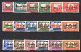 18 VALEURS DE LA SERIE FRANCE LIBRE - Nouvelle-Calédonie