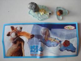 Age De Glace 4. - Scrat. - Figurine Kinder DC220, Avec Bpz. - Familles