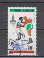 Gabon YT PA 239 Obl : Boxe , Moscou 80 - Gabon