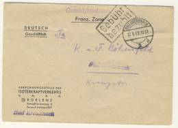 Geb�hr bezahlt Bad Kreuznach 1947
