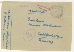 Geb�hr bezahlt H�gelheim 1945 Briefvorderseite