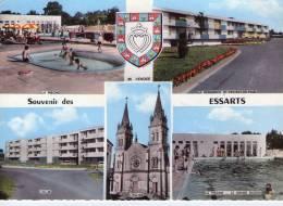 Les Essarts..belle Multi-vues..très Animée..la Piscine..H.L.M..la Résidence St-Vincent-de-Paul..l'Eglise - Les Essarts