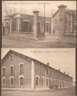 Lot De 2 C.p.a Sépia - LA DOUA  (Rhône)  -- Artillerie De La 6me D.C. - MILITARIA - VILLEURBANNE - Villeurbanne
