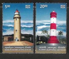 INDIA, 2012, Lighthouses Of India, Set 2 V, MNH, (**) - India