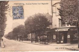 (93) MONTREUIL. Avenue Pasteur (sur Bagnolet) Es. C.G à Rosny Sous Bois - Montreuil