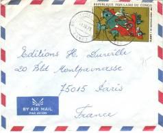 Timbre YT 372 (Union Révolutionnaire Des Femmes Congolaises) Seul Sur Lettre De Brazzaville Bacongo à Paris Du 1/10/1975 - Autres